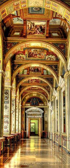 RUSSIA ~ The Royal Winter Palace in St. Petersburg, the Hermitage Museum.