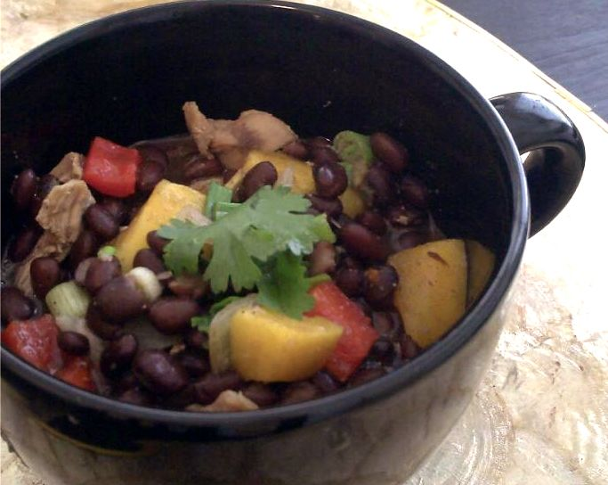 black bean chicken and mango stew - Poor Girl Eats Well, a blog I just ...