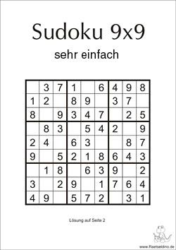 sudoku zum drucken kostenlos
