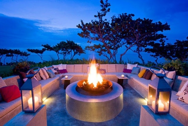 Outdoor Conversation Pit Outside Pinterest Backyards