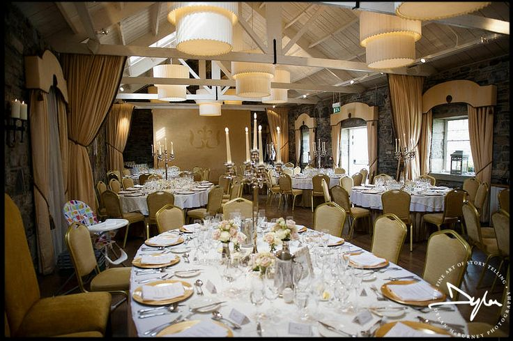 Beautiful wedding reception in Ballymagarvey Village by Dylan McBurney