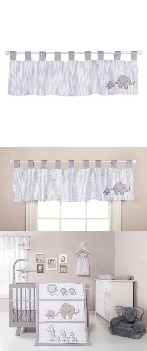 Window Treatments 20431 Valance Curtain Safari Chevron Black White Elephant Nursery Baby New It Now Only 34 05 On Ebay