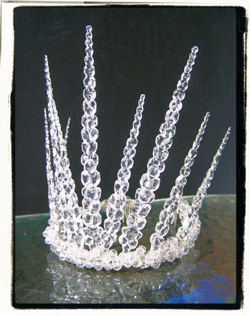 Snow Queen Ice Princess Frozen White Witch of Narnia Icicle Tiara Renaissance Crown
