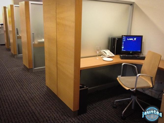 Semi-private work spaces at LAN's Neruda VIP Salon