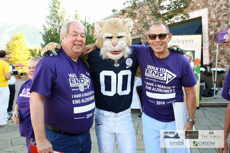 Mayor Brunst & Mayor Curtis were on the scene in Provo along with BYU mascot, Cosmo.