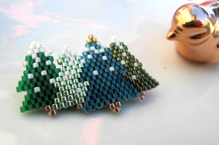 broche Sapins de Noël : Broche par chatricotte