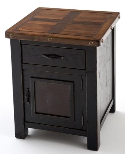 Painted Furniture - End Table or Nightstand - One Door, One Drawer