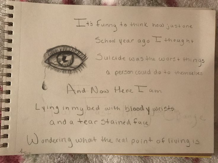 """Depression/self harm drawing/quote """"if only I knew"""""""
