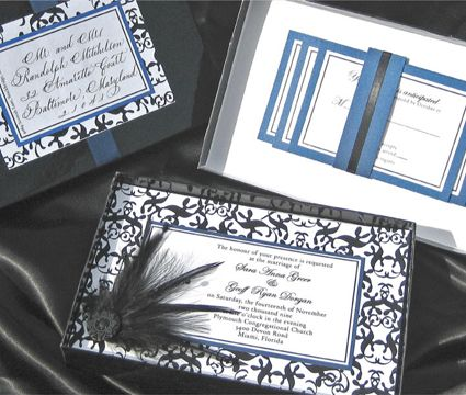 Invitación de Matrimonio en Caja -- Fotografía: Dogwood Blossom Stationery
