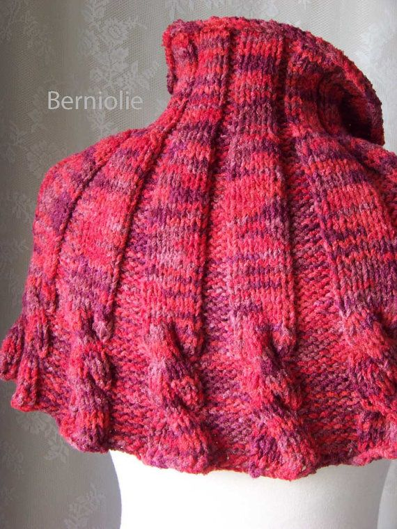 Rolanda Knitting Capelet Pattern Pdf Knitting Etsy And