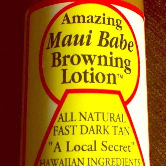 Maui Babe LARGE SIZE Bottle Tan Accelerant NOW Get Twice As Much!  A Full 8 OZ. of The BEST SUNTAN LOTION ON THE PLANET! Everyone who has tried it LOVES IT & returns for More!! EXCELLENT IN TANNING BEDS! Natural Hawaiian Ingredients Promote Deep, Dark, LONG LASTING Tan with just a SHORT Time in the SUN  Twice as Much For LESS! A Little Goes A Long Way!  Maui Babe Other
