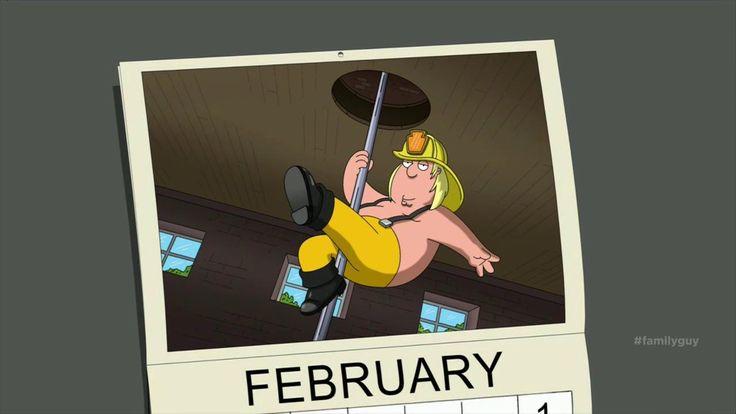 "Chris Griffin, aka ""Mr. February."" #HubbaHubba #familyguy"