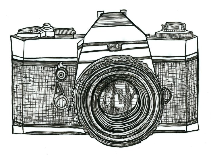 camera drawing retro - Google Search | Swipe File ...