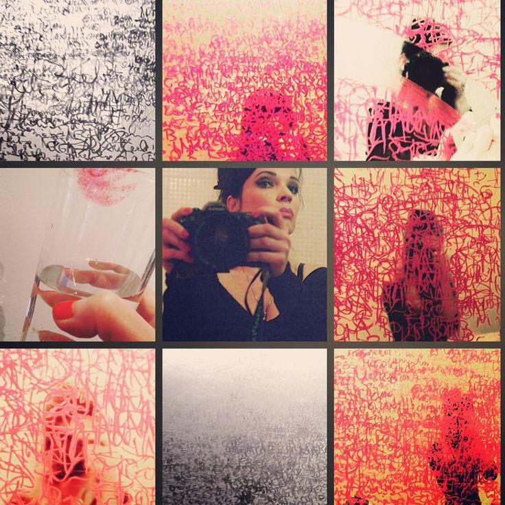Lipstick project, zsuzsi csiszer, rúzs, text, draw, writing, installation