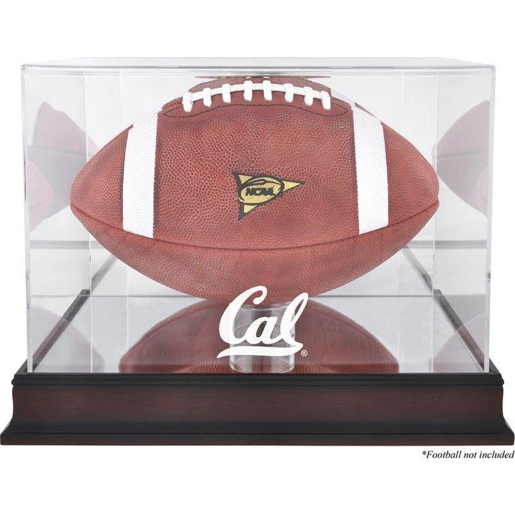 California Bears Fanatics Authentic Mahogany Base Logo Football Display Case with Mirror Back