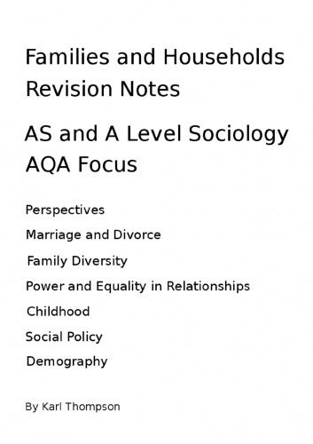 sociology education revision notes Aqa education (aqa) in almost all cases the person picked will stand at urinal three –discuss how sociology is this is particularly useful for revision.