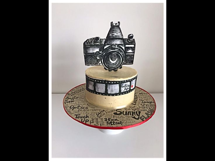 Cake fit for a photographer