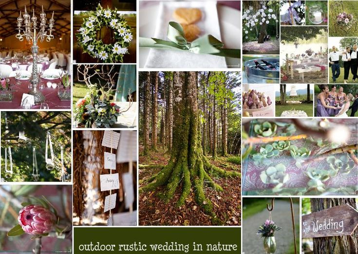 outdoor rustic wedding in nature