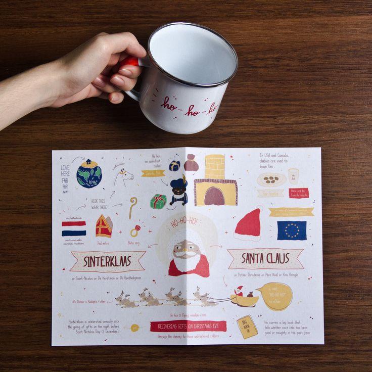 Sinterklaas enamel mug and print  #enamelware #cestca #enamelmug #handcraft #handmade #christmas #gift #christmasgift #ideas