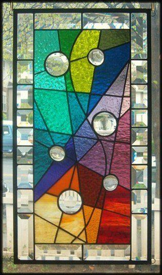 **EMBRACED BY COLOR** Stained Glass Window Panel (Signed and Dated)   eBay