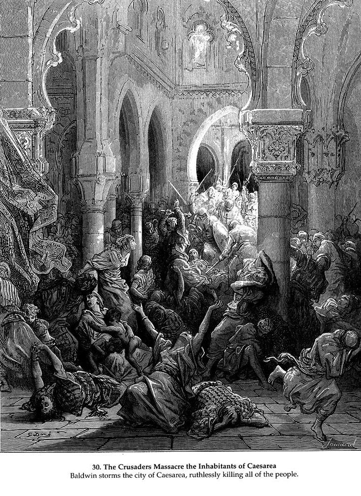 The Crusaders Massacre the Inhabitants of Ceasarea - Gustave Dore