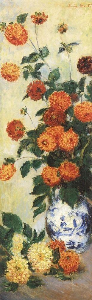 Dahlias ( C Monet - W 937),1883.