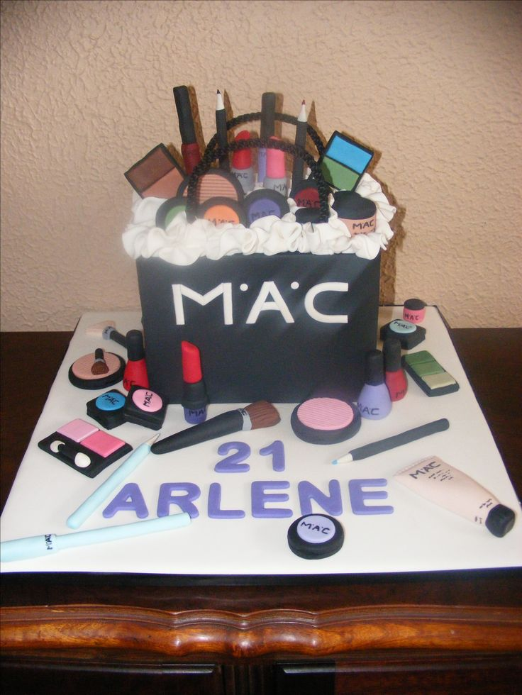 Mac makeup. Made with rice krispies treats
