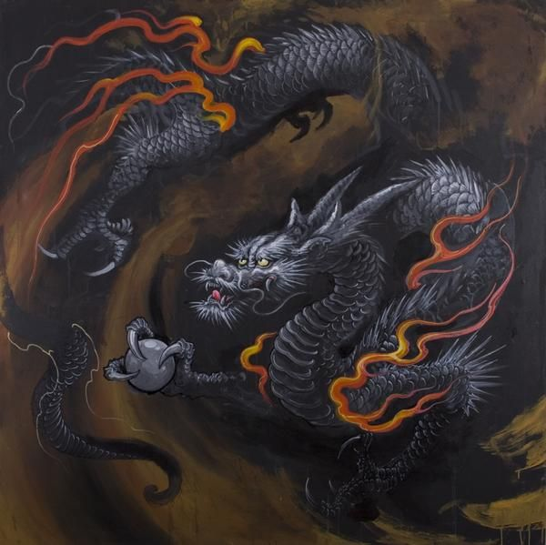 japanese dragon painting tattoo - Google Search