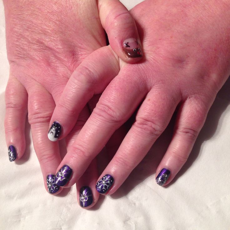 She wanted festive nails......