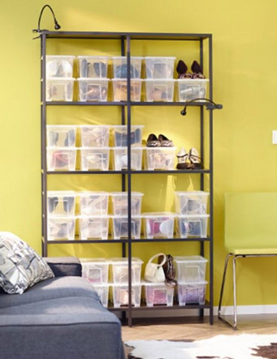 Shoe Organization Using Ikea Samla Boxes Home Etc Bedroom Ikea