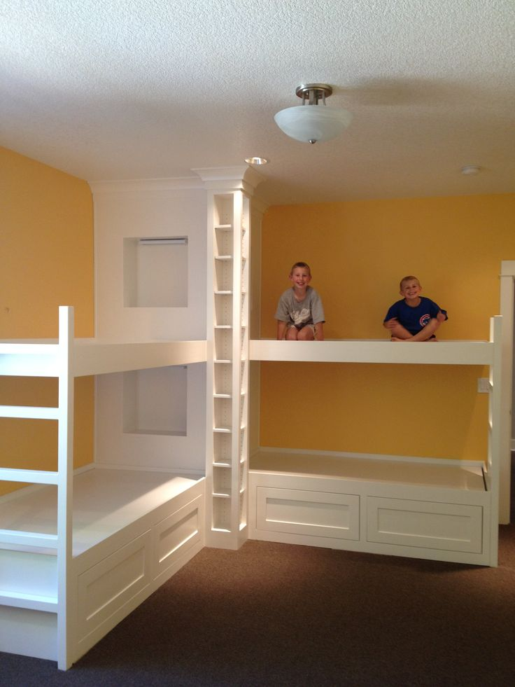Spaces On Pinterest Built In Bunks Guest Rooms And Custom Bunk Beds