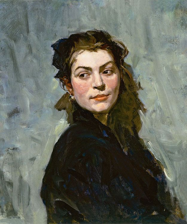 Portrait of Еkaterina Bаlеbina - Lev Alexandrovich Russov