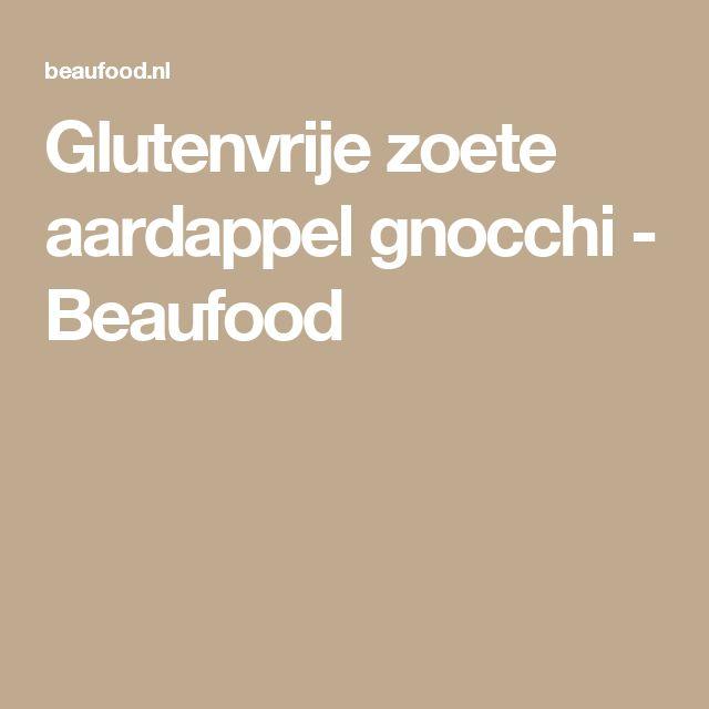 Glutenvrije zoete aardappel gnocchi - Beaufood