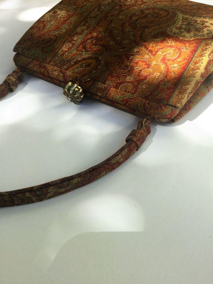 Rare 1950 Coblentz paisley bag, kelly bag, paisley, 1950 bag, 1950 american bag - Rara borsa Coblentz disegno paisley di Quieora su Etsy