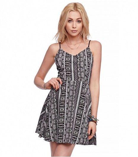 LA Hearts Cage Back Fit N Flare Dress ($40)