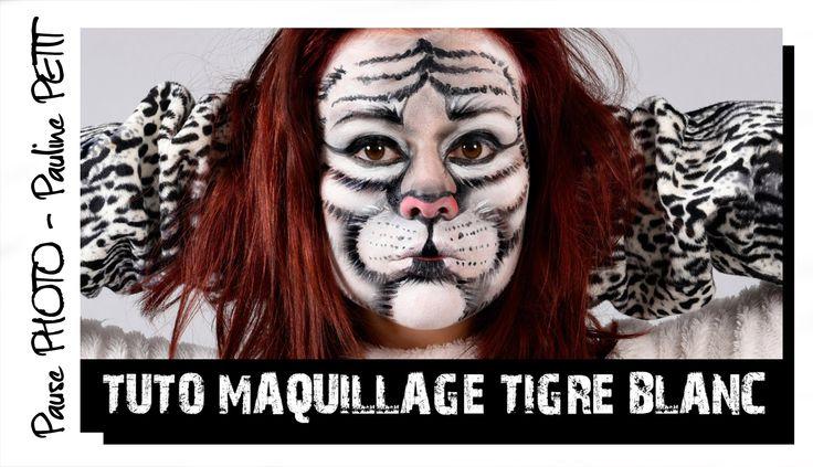 Les 25 meilleures id es de la cat gorie maquillage tigr sur pinterest costume tigre halloween - Maquillage blanc visage ...