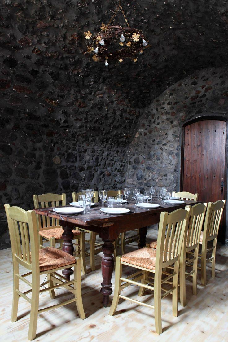 The imposing interior of Ilios&Petra Restaurant.