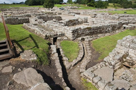 Vindolanda, Northumberland. We had a good couple of school trips here, wandering round the Roman forts.