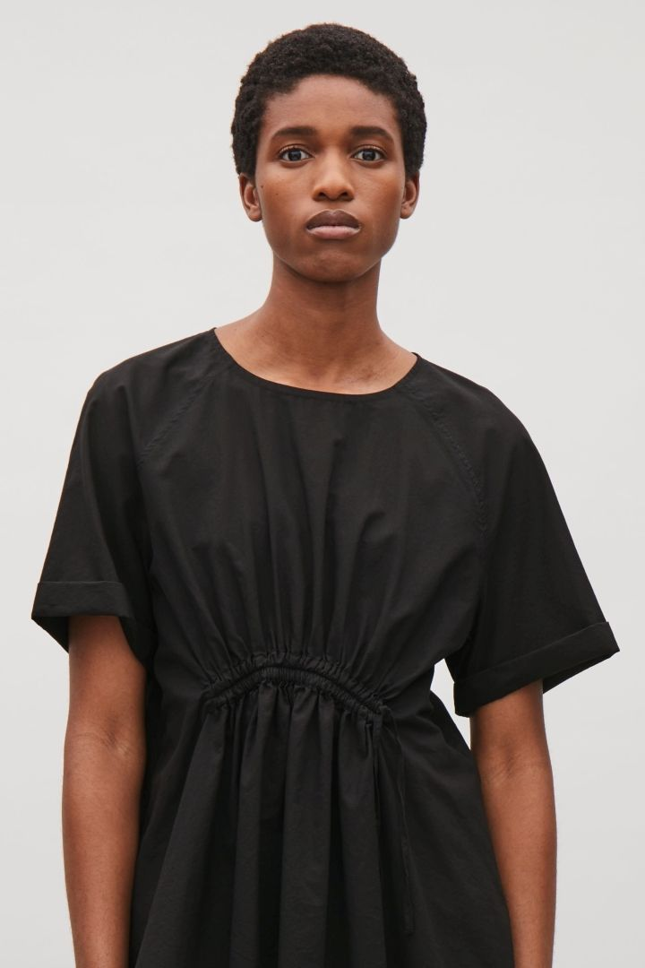COS image 2 of Drawstring front top in Black
