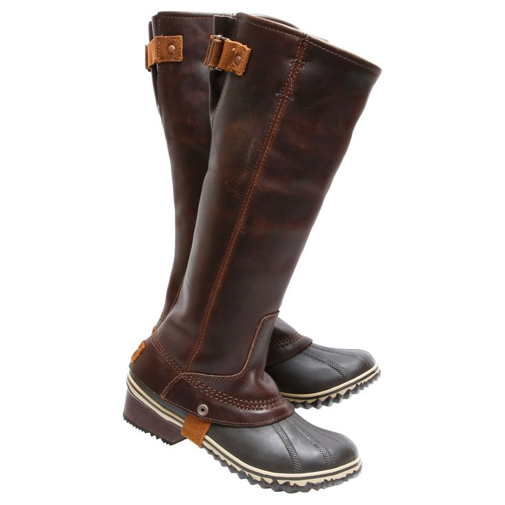 Sorel Women's SLIMPACK RIDING TALL nutmg wtrpf boots 1517851-260