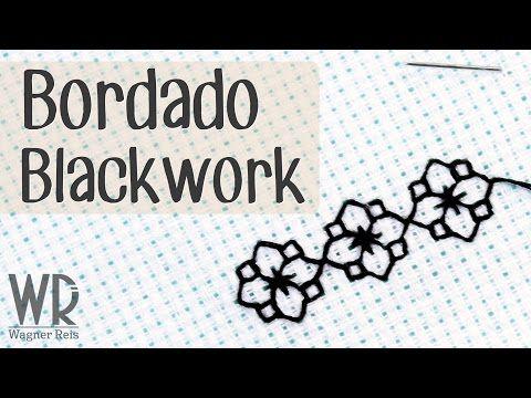 Bordado Blackwork - Tutorial completo - YouTube