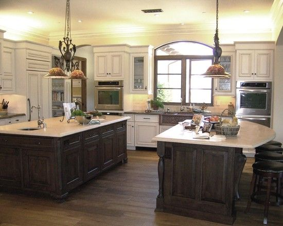 Spaces Two Color Kitchen Cabinets Design, Pictures, Remodel, Decor and Ideas - page 6