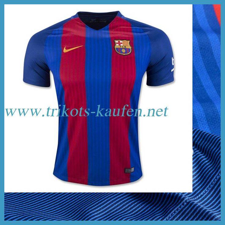 Neue Barcelona Trikot Heim Rot/Blau 2016 2017 Bedrucken Lassen