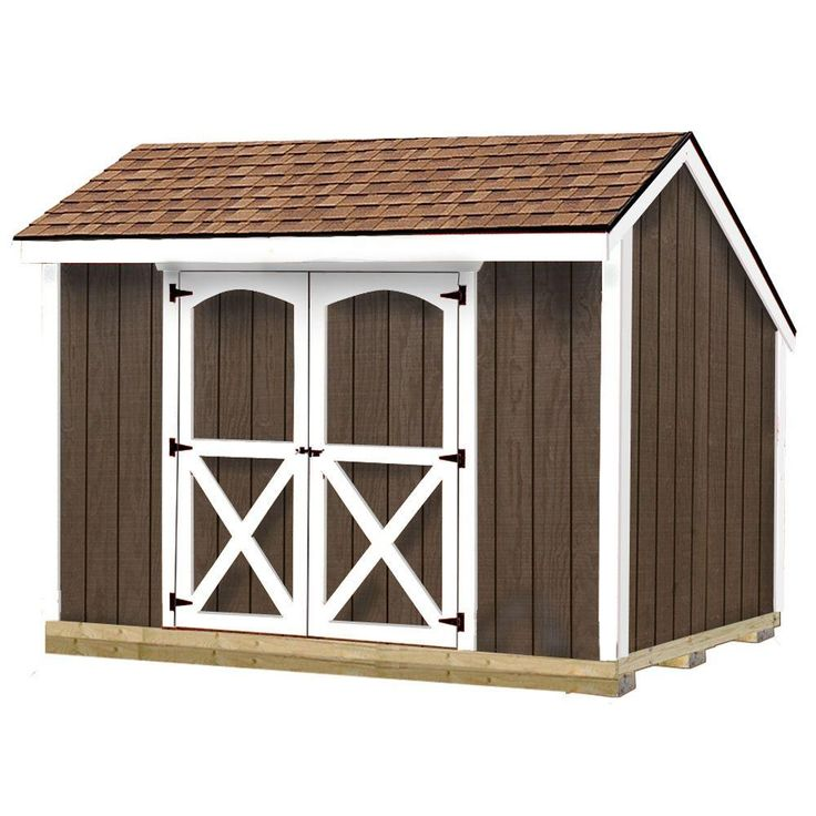 best barns aspen 8 ft x 10 ft wood storage shed kit with floor including 4 x 4 runners aspen. Black Bedroom Furniture Sets. Home Design Ideas