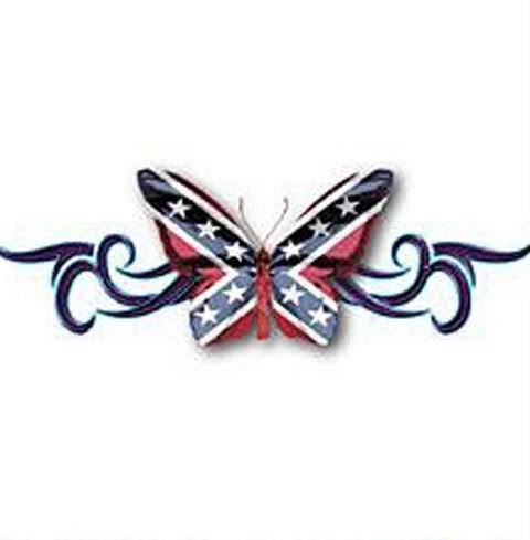 Gallery For > Rebel Flag Butterfly