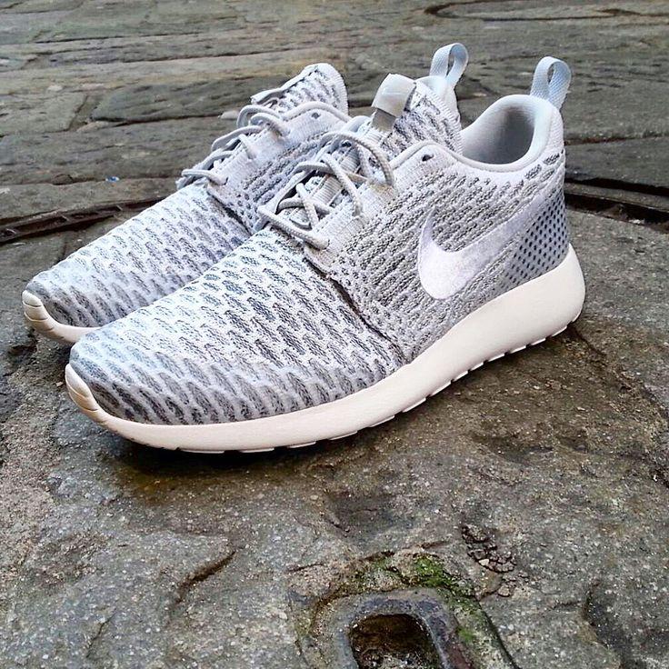 Nike Running Rosh Flyknit white platinum