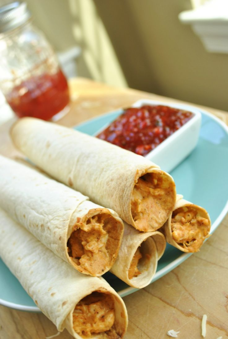 hicken Flautas with Sweet and Spicy Jalapeno Sauce