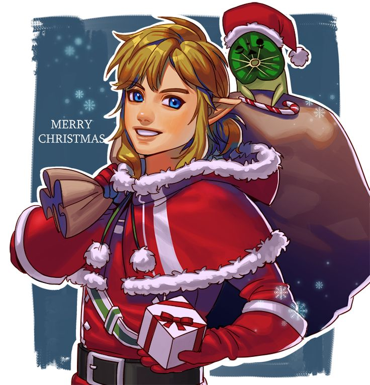 Link and Korok are ready for Christmas   Legend of Zelda Breath of the Wild
