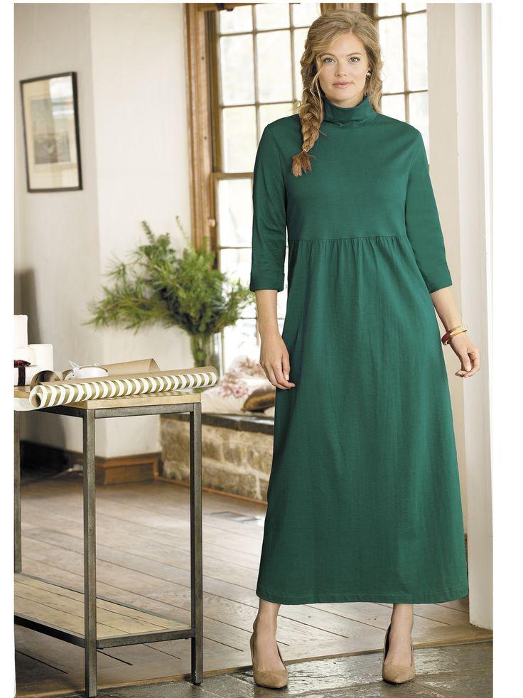 Women's #Plus Size Meghan Turtleneck Empire Knit #Dress