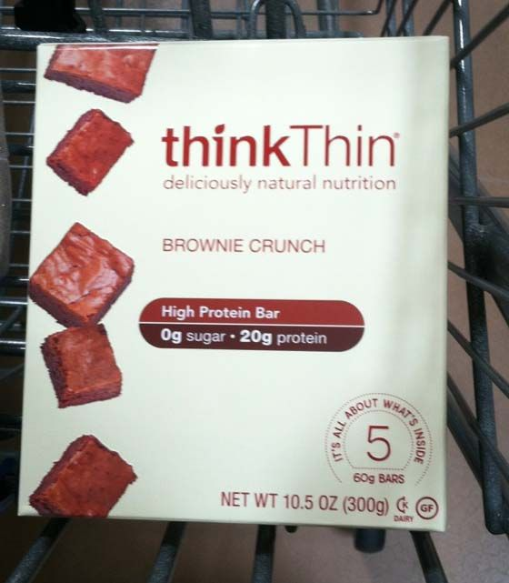 Think Thin Brownie Crunch Hig Protein // Highly Processed BS!